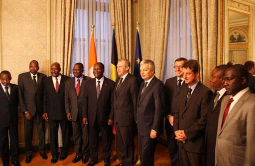 Ontmoeting met Alassane Ouattara, President van Ivoorkust