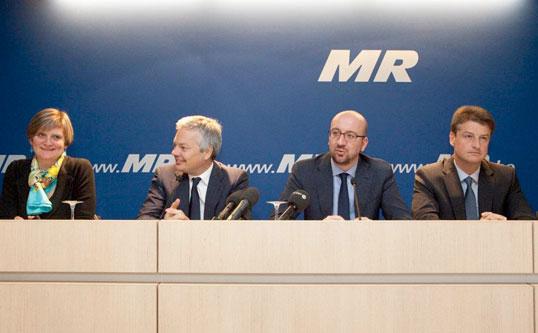 Partijraad en voorstelling van de nieuwe MR-ministers