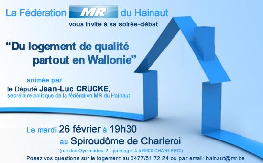 Debatavond : « Overal kwalitatief wonen in Wallonië »