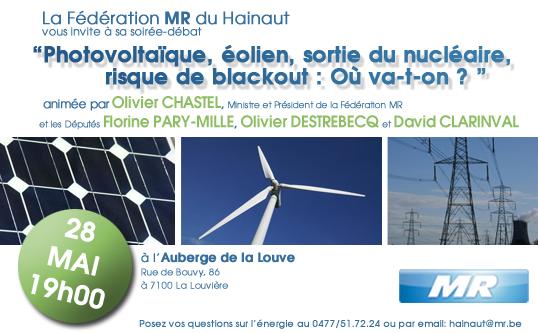 """Debatavond : """"Zonnecellen, windenergie, kernuitstap, blackout-risico : waar gaan we heen?"""""""