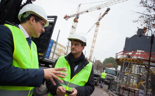 Visite du chantier Rive Gauche à Charleroi