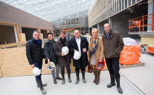 """Visite du chantier « Rive gauche"""" à Charleroi"""